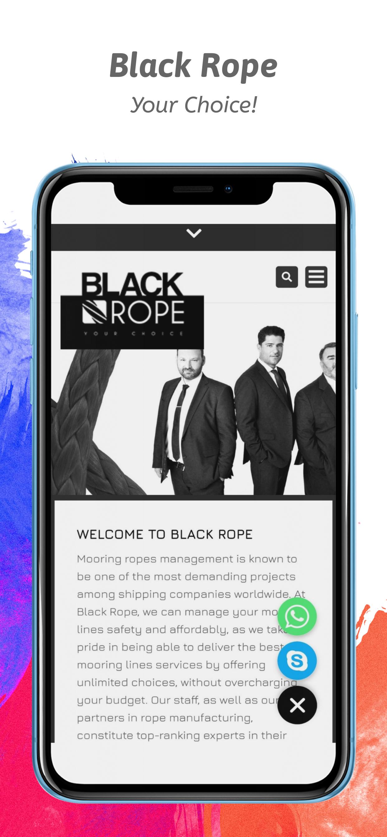 black rope mobile
